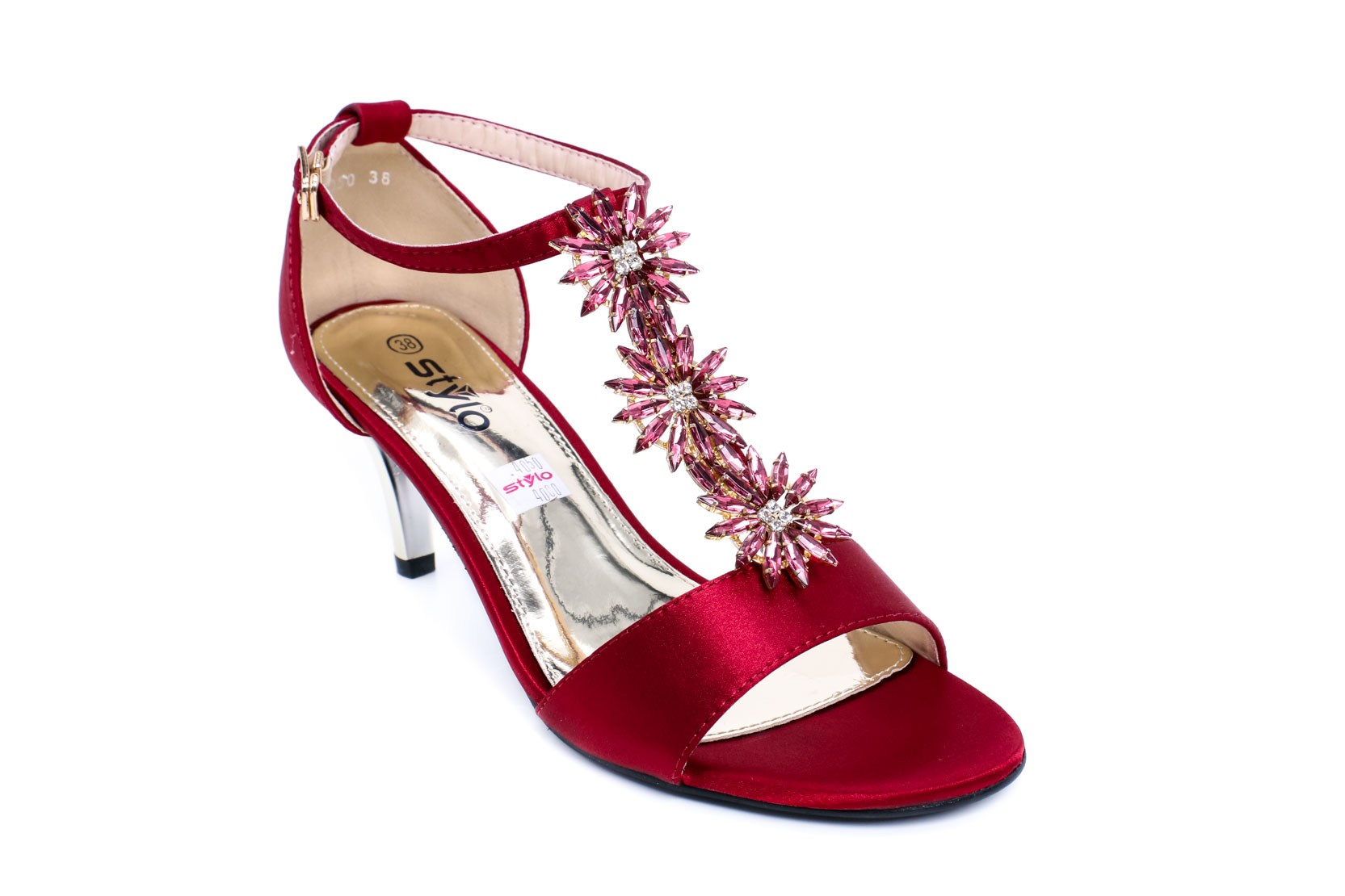 MAROON COLOR OPEN FANCY SANDAL