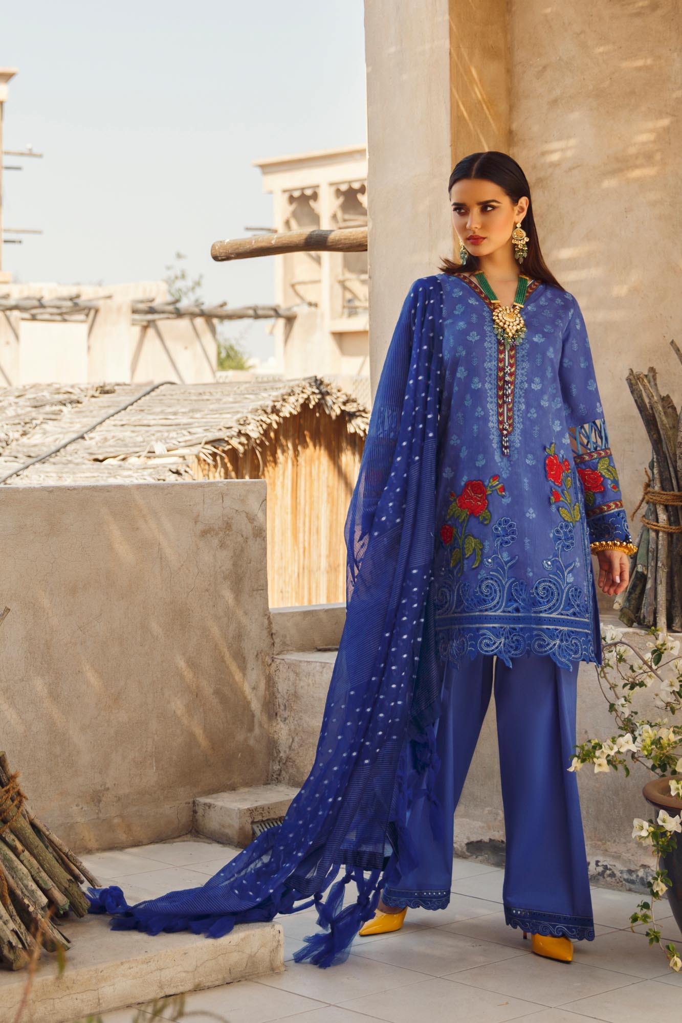 Ethnic By Outfitters Printed Jacquard 3pc