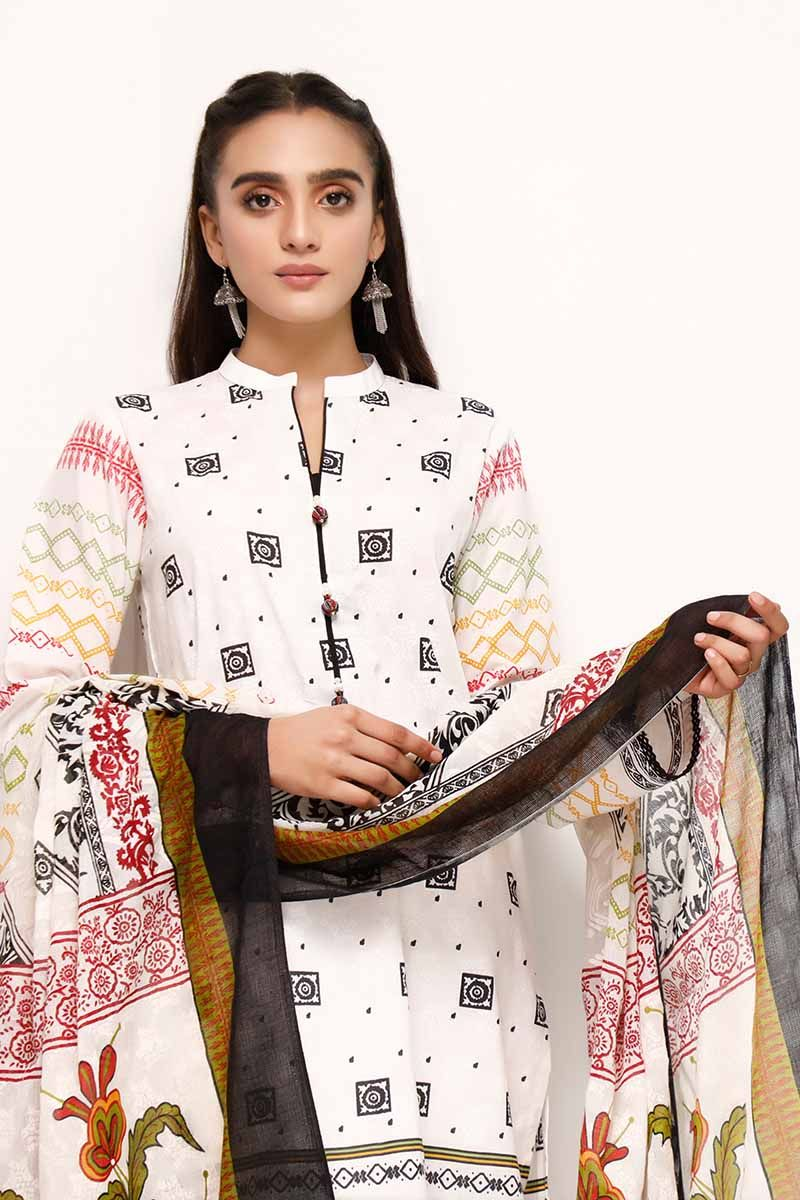 GL 3PC Printed Lawn Suit
