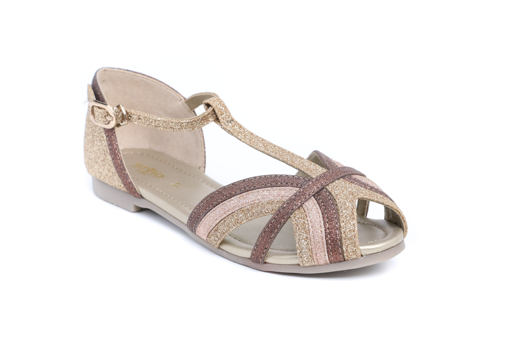 GOLDEN COLOR FORMAL SANDAL STYLO