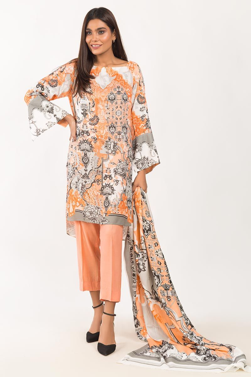 Gl Viscose 3 PC Outfit