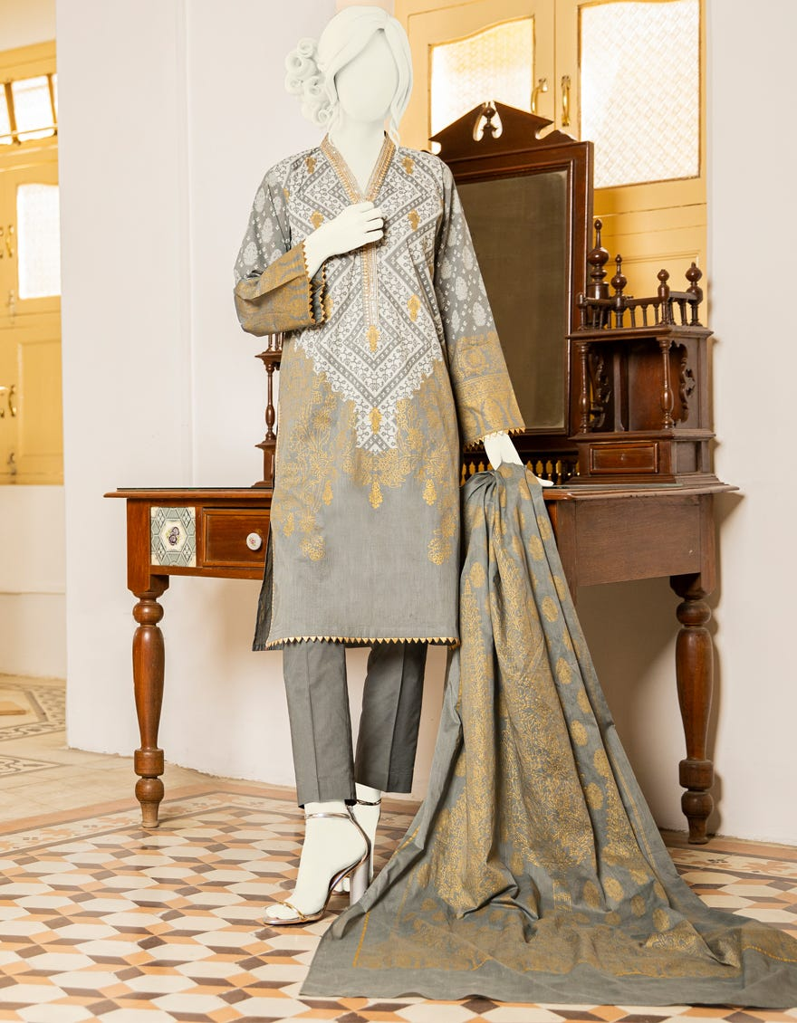 J. Embroidered Lawn 3pc