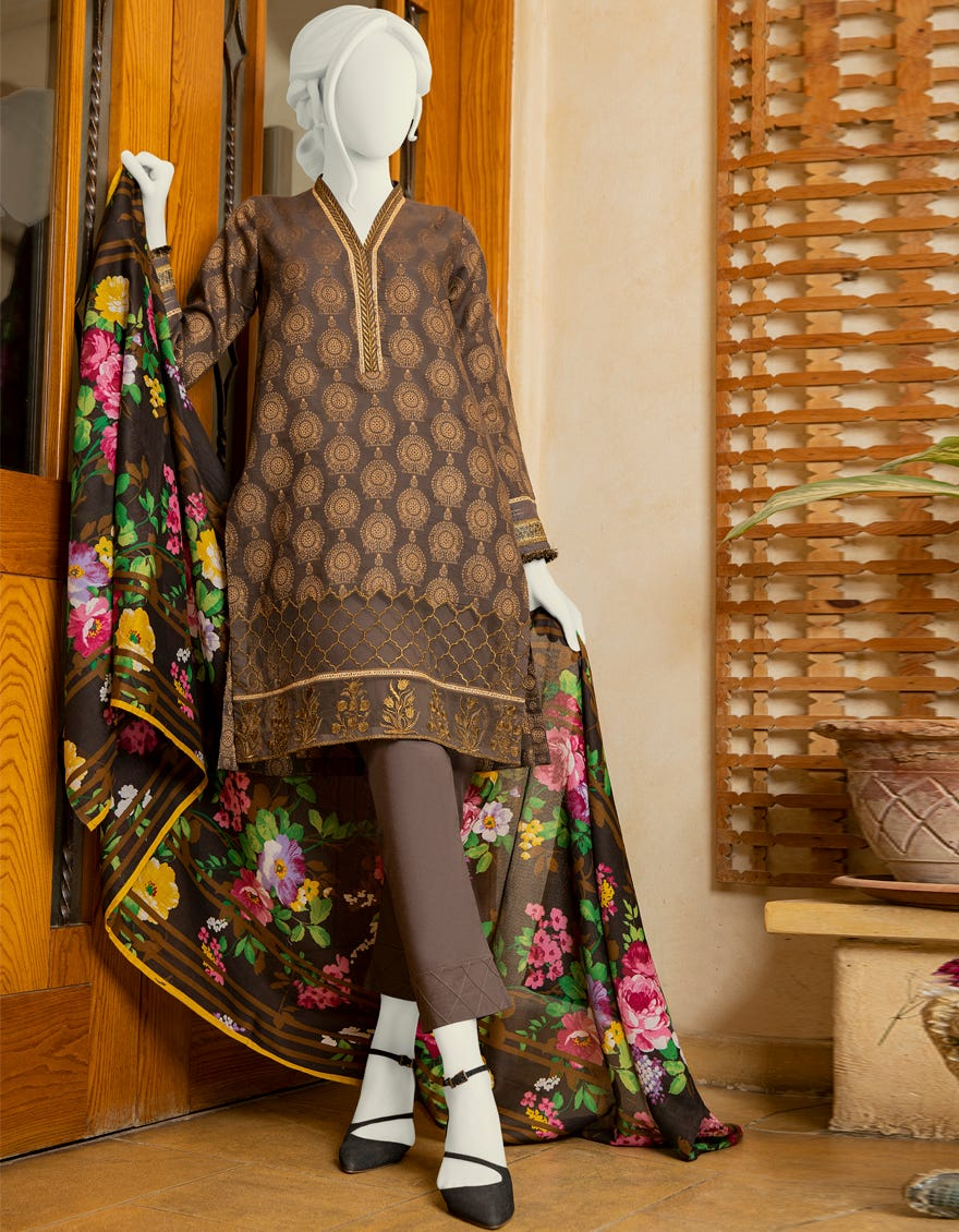 JLAWN Embroidered Jacquard suit