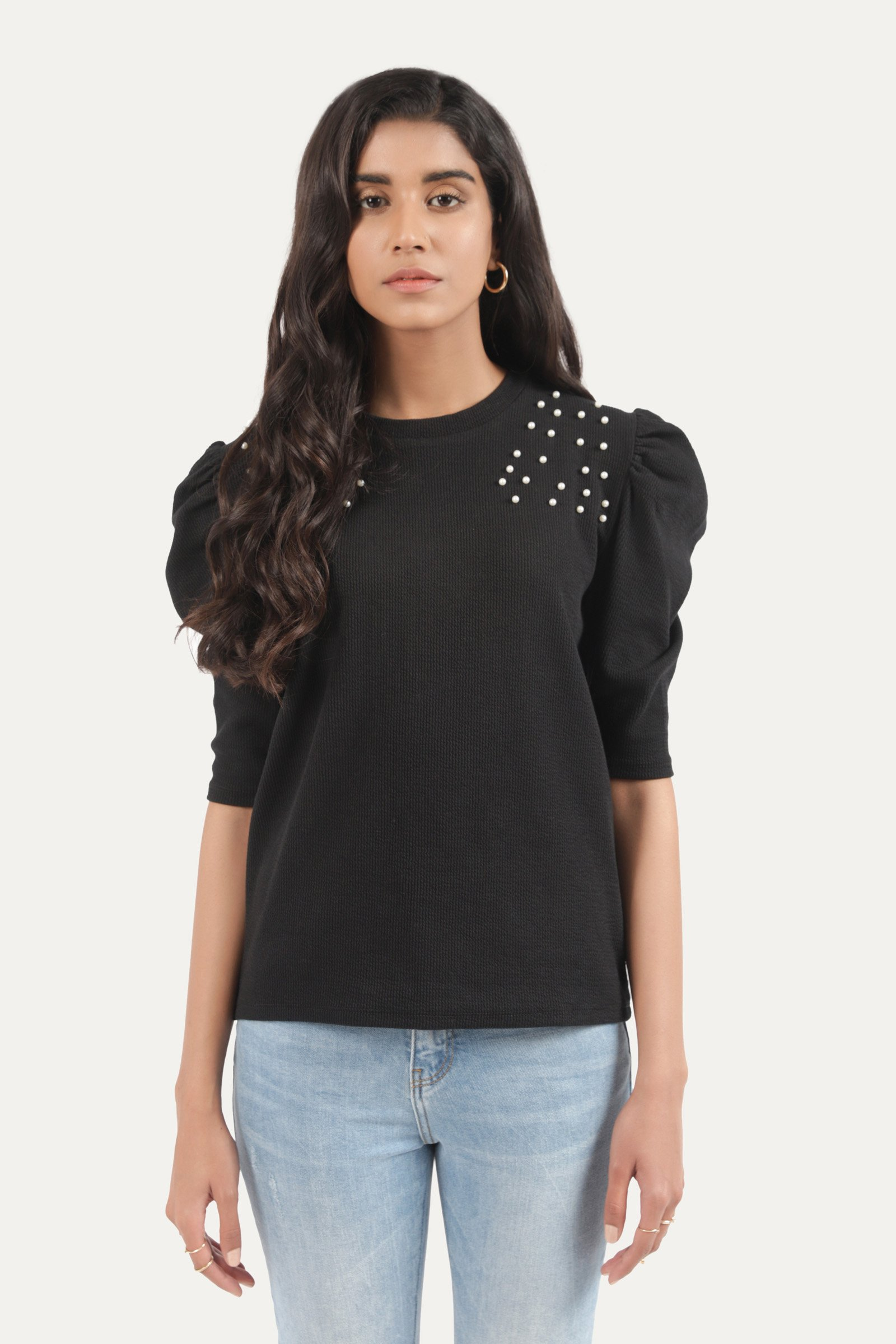 Outfitters Ruffled sleeves T-Shirt