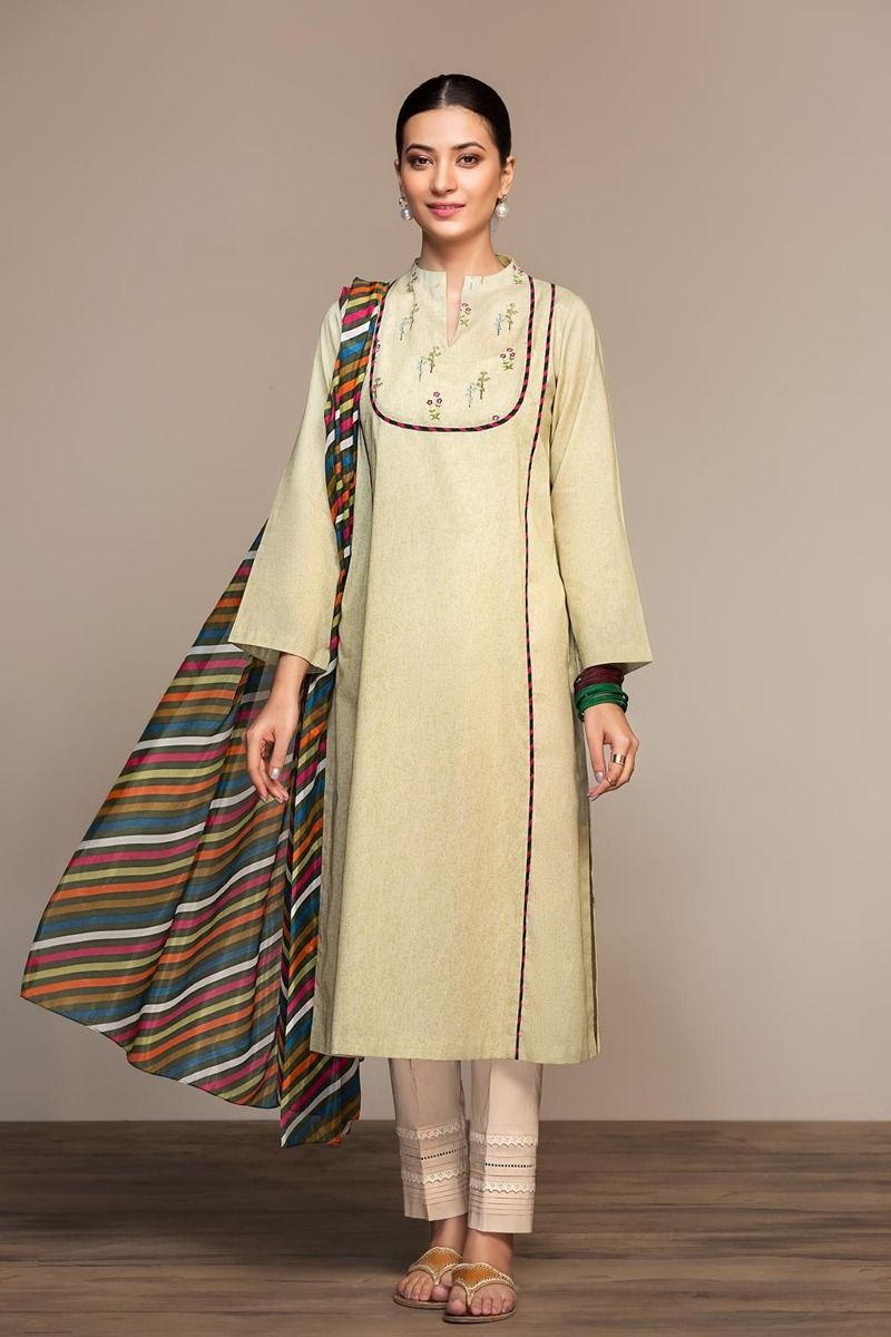 Printed Embroidered Stitched Lawn Shirt