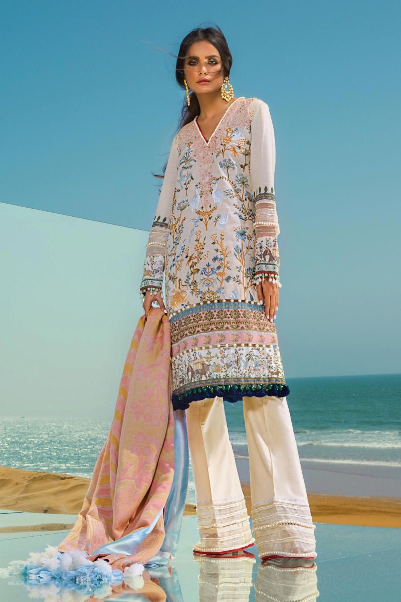 SS 3pc Embroidered Suit