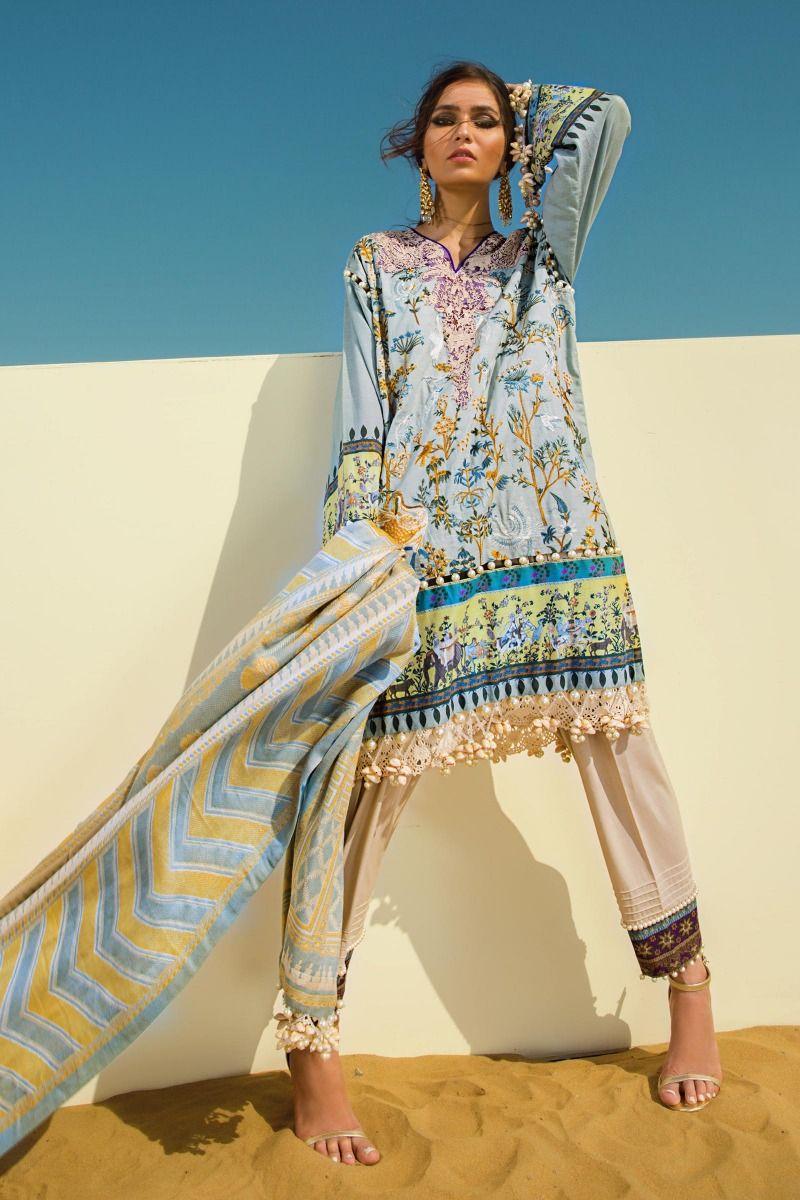 Sana Safinaz Shikargah embroidery 3pc Suit