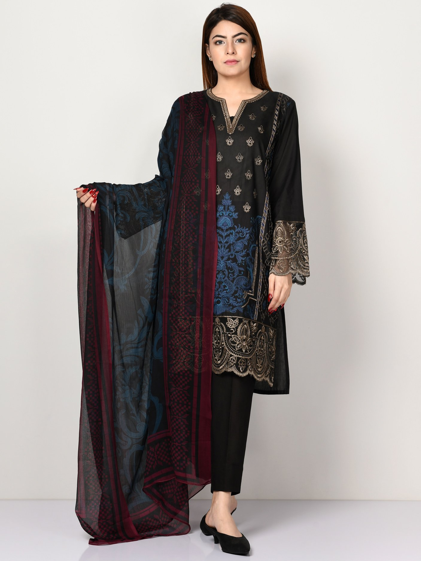 Embroidered Lawn Suit Limelight