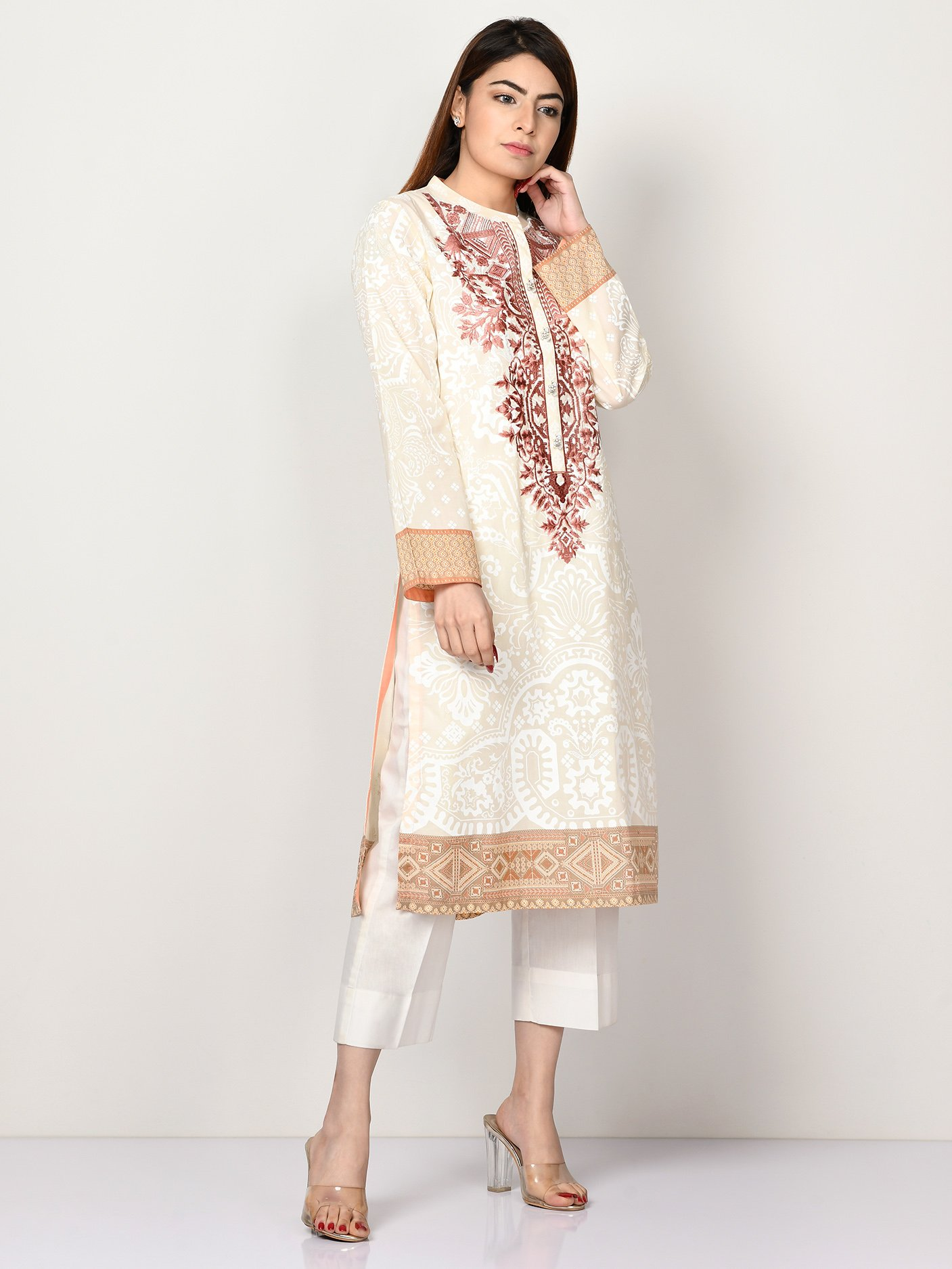 Limelight Embroidered Lawn shirt