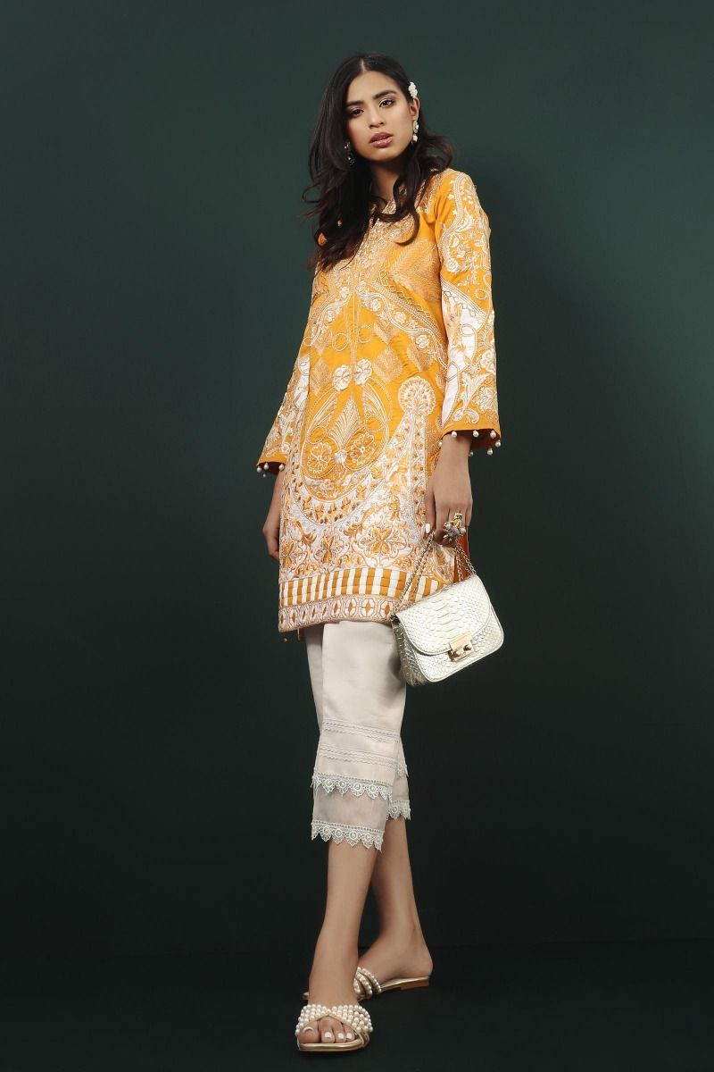 embroidered jacquard shirt only 1PC