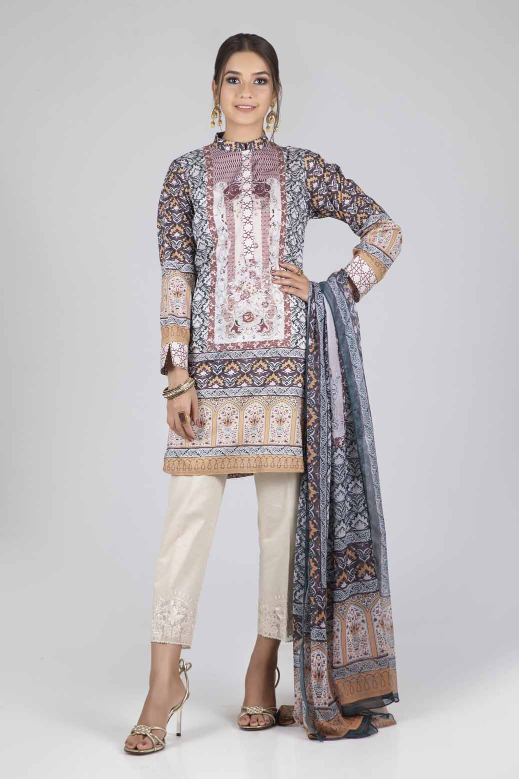 Bonanza 2Pc Digital Printed Lawn Suit