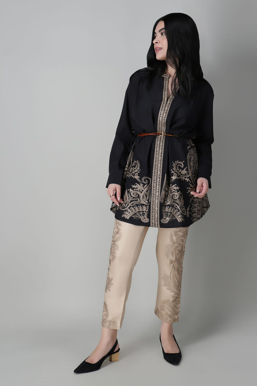 Khaddi Embellished Tunic For Women