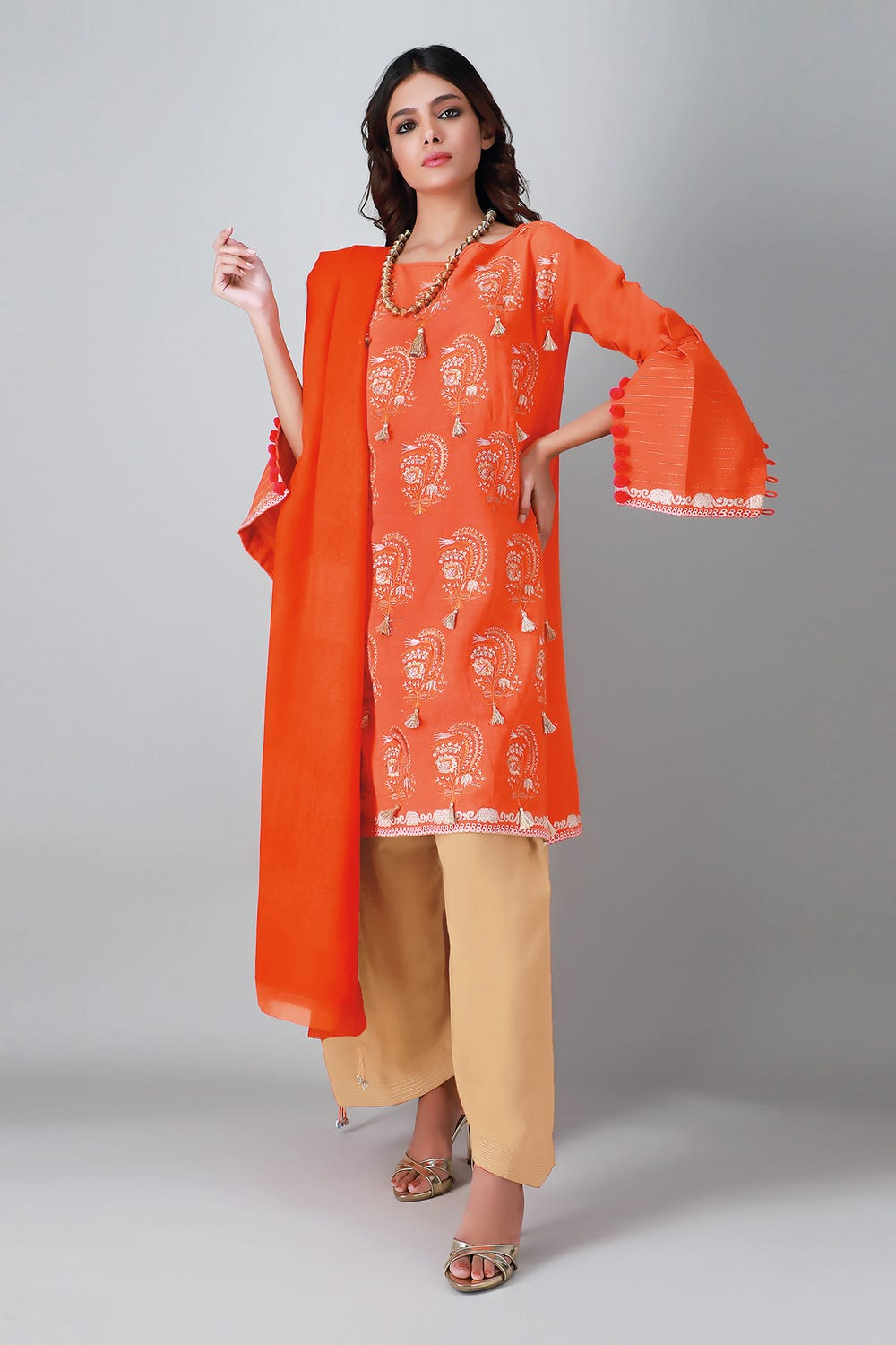 Khaddi Unstitched Embroidered Suite 3pc