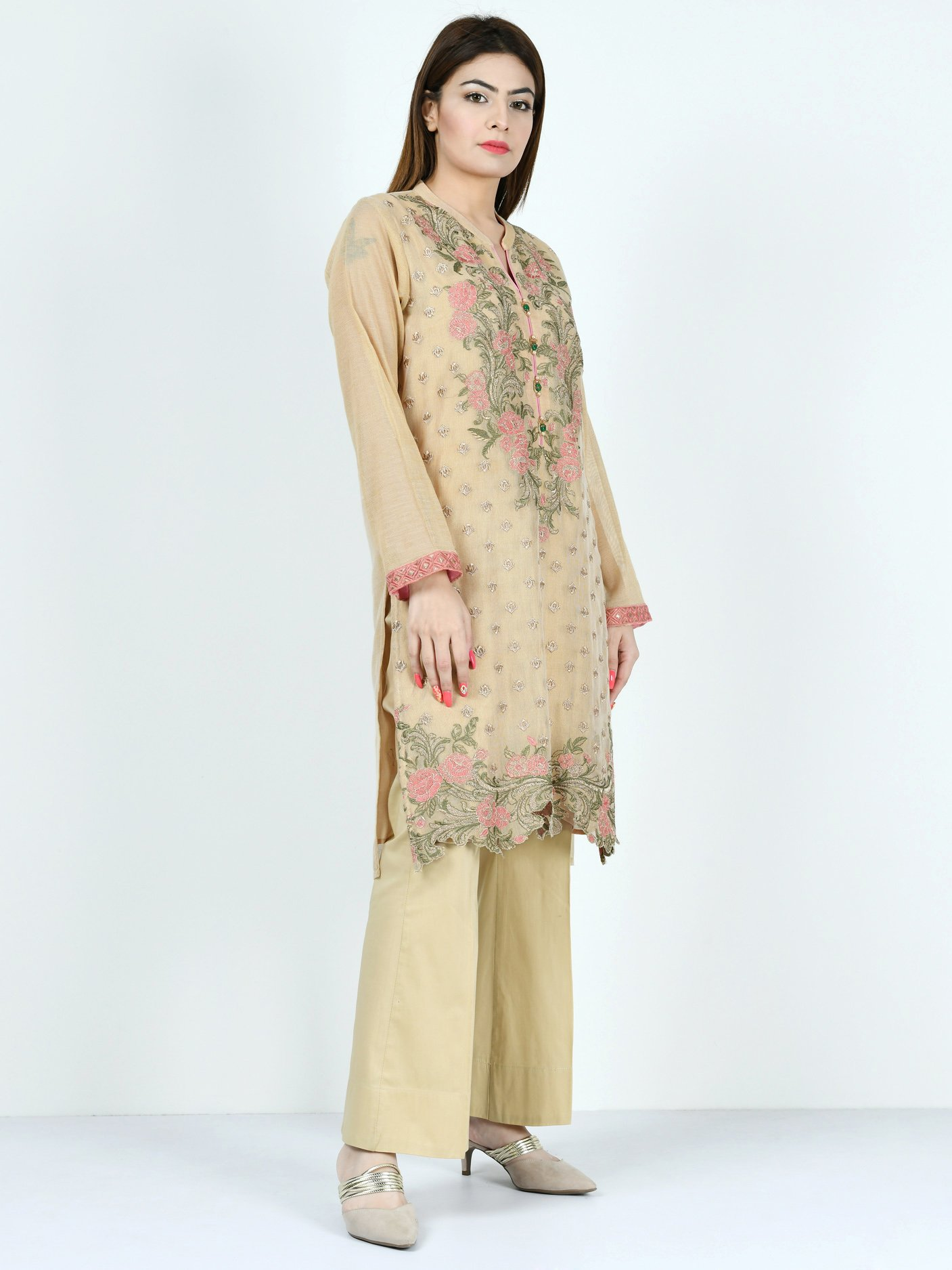 LImelight EMBROIDERED NET SHIRT 1Pc