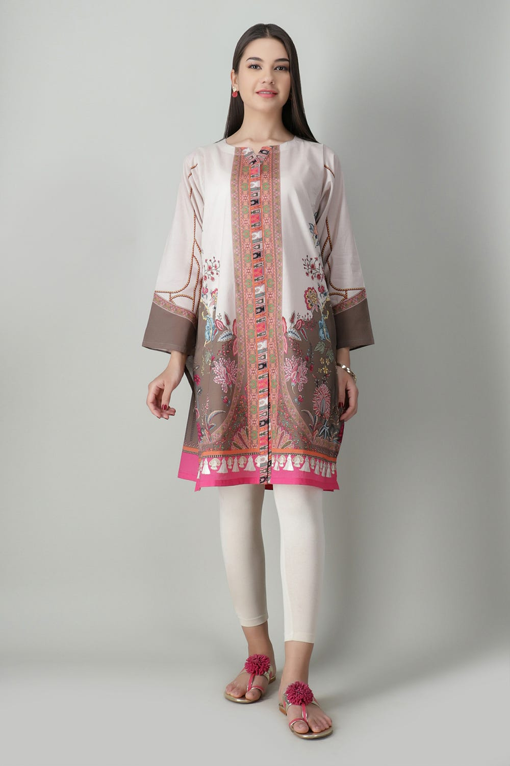 Lawn Embroidered Kurta Khaddi