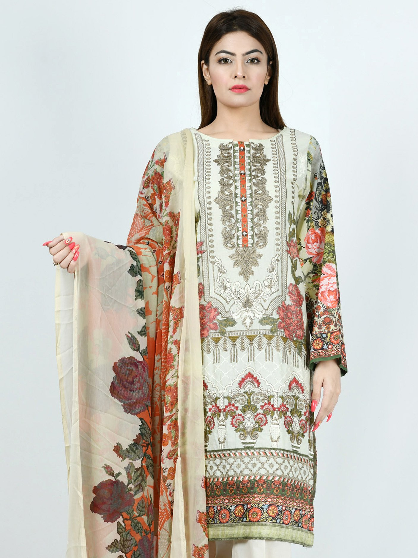 Limelight EMBROIDERED LAWN SUIT