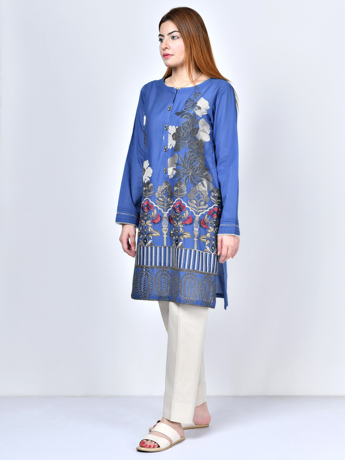 Limelight Embroidered Lawn Shirt 1Pc
