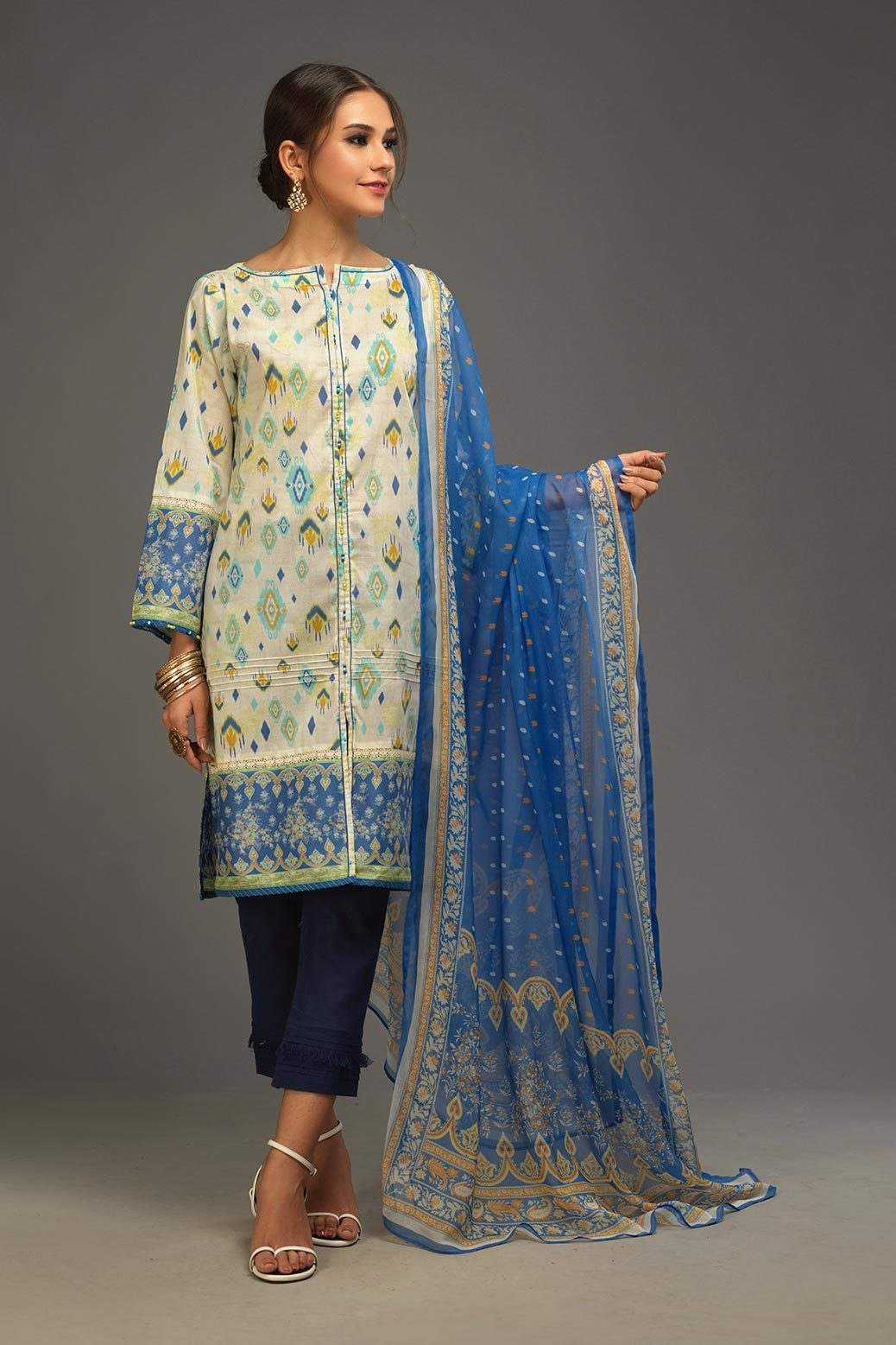 Printed Lawn 2pc Suit