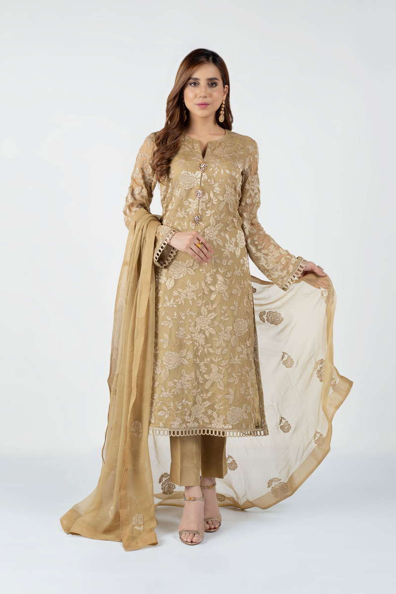 Yellow New Lawn dress for Girls