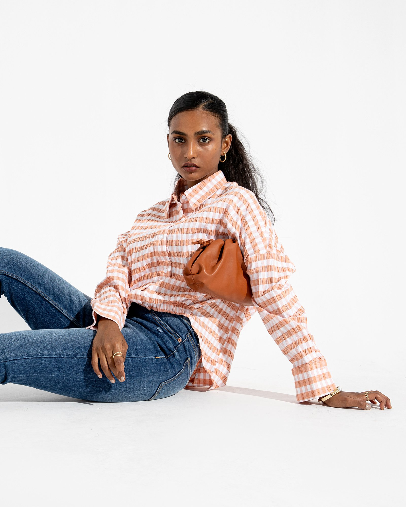Checkered Blouse For Girls