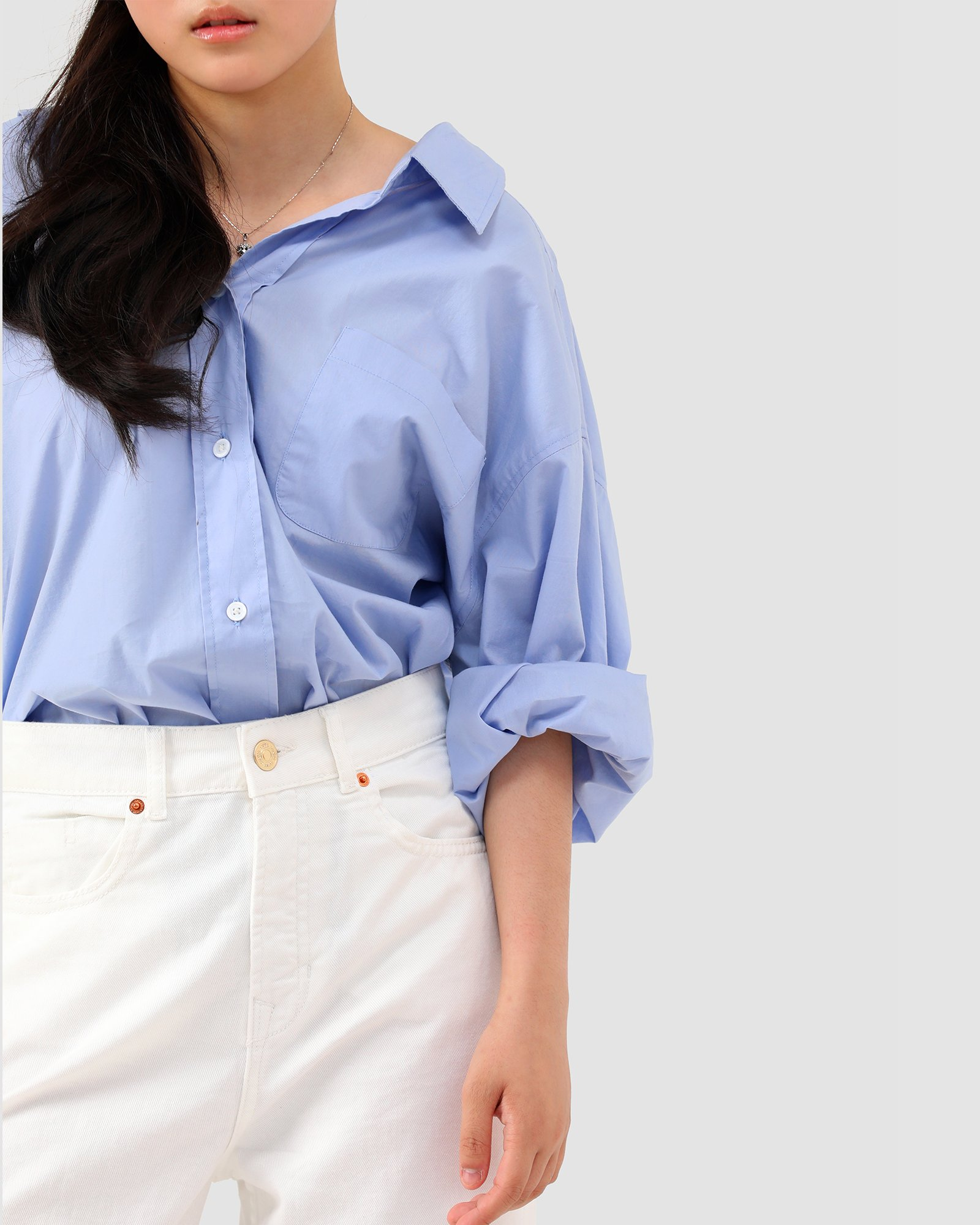 Latest Basic Button Down Shirt For Ladies