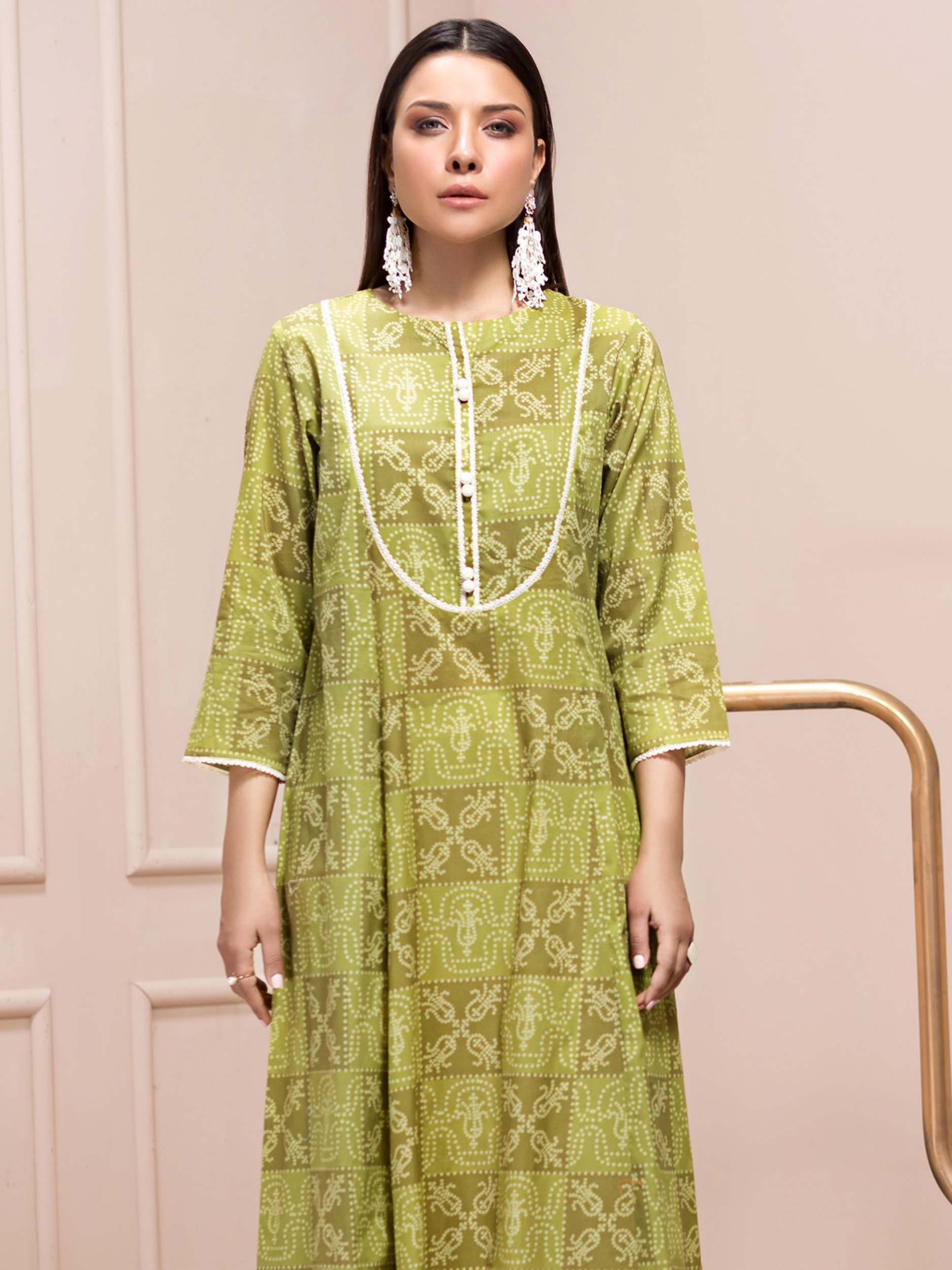 Limelight Printed Lawn Shirt