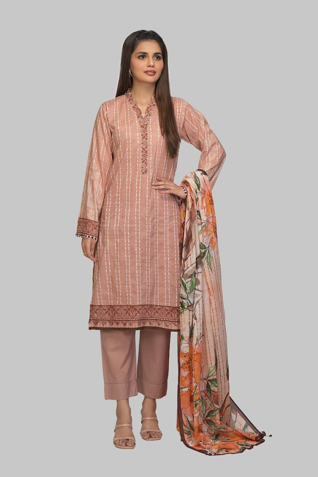 New Vasal 3 Pc Lawn Collection For Girls
