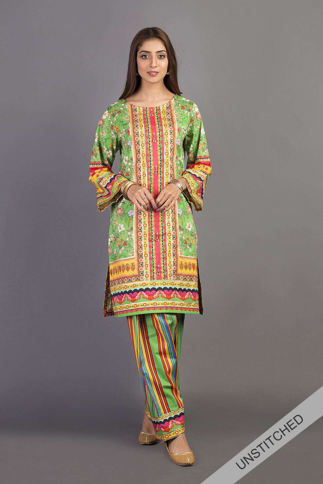 New Unstitched Rang Ja Sale On Lawn For Girls