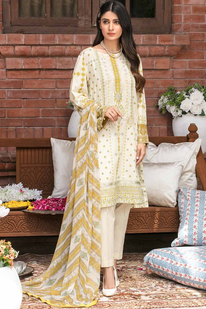 Warda 2PC Lawn Embroidery Suit