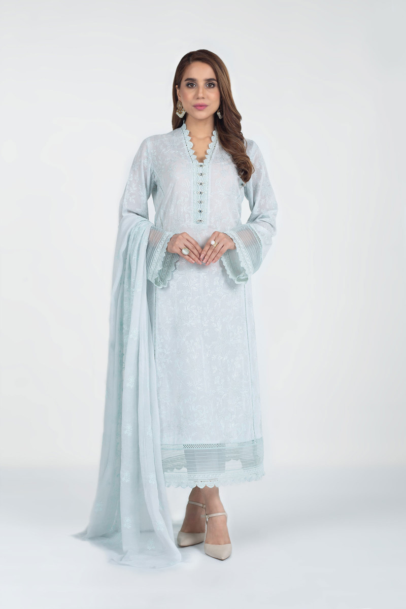 White Lawn Bareeze Collection For Ladies