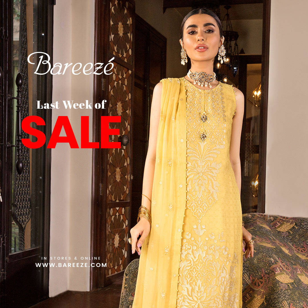 Yellow Bareeze Sale New Arrival for Girls