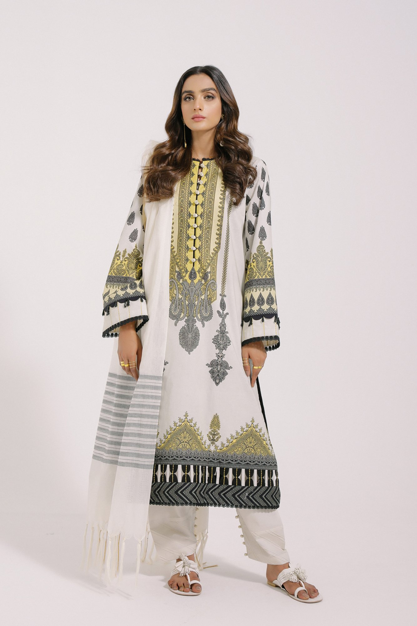 ethnic offwhite suit