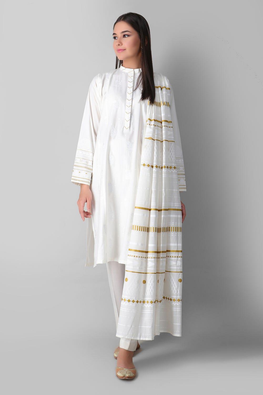 khaadi white kurta